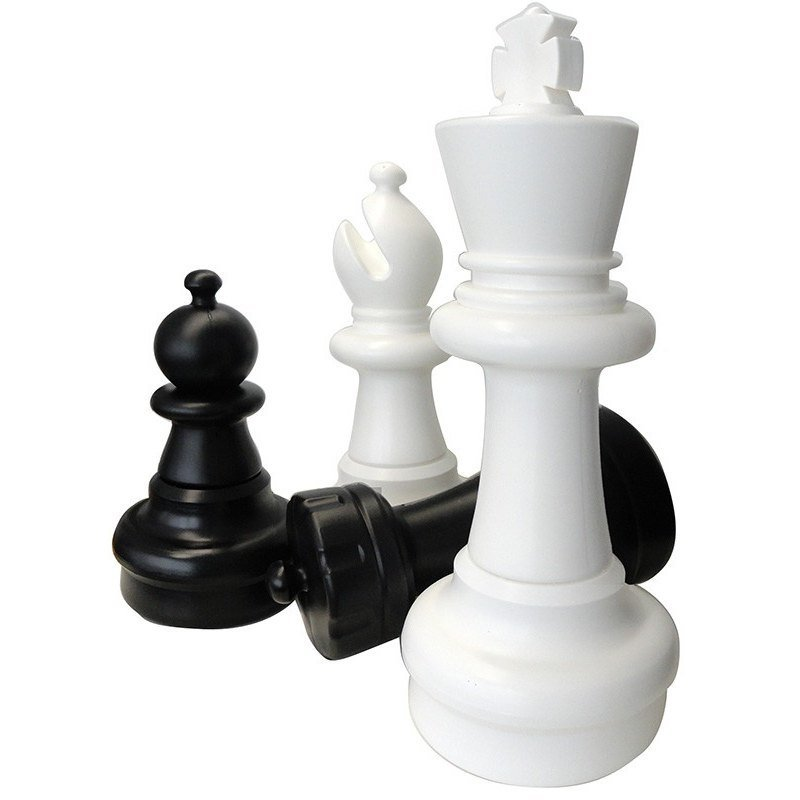 Giant Chess Pieces 63 Cm. Giant Chess Height Of The King 63 Cm. This Giant Game Is Recommended For Outdoor Use