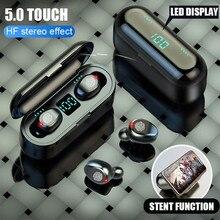 F9 TWS Smart Touch беспроводные наушники Bluetooth наушники 5,0 беспроводные наушники 8D стерео гарнитура с 2000 мАч зарядная коробка