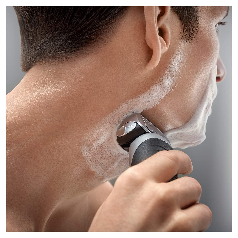 Зубных щеток Braun электрическая бритва для Для мужчин, серия 7 7893s электробритва с точный триммер, Перезаряжаемые, Wet & Dry & дорожная сумка чехол 6