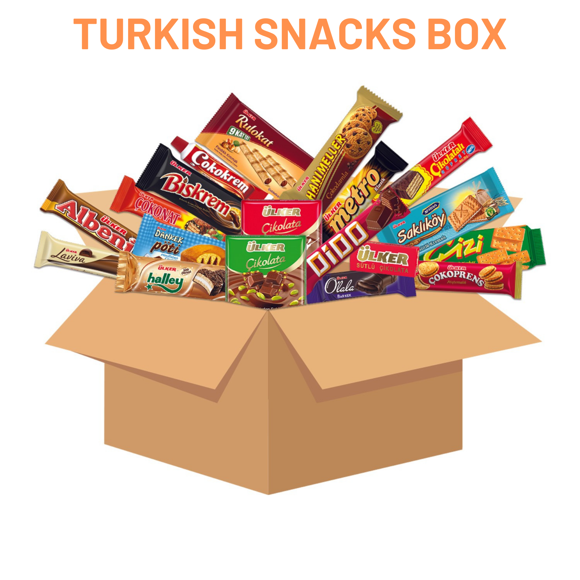 Turkish Snacks Box Famous And Popular Ones Tasty Multicultural Tastes Special Gift For Adults&Children Made In Turkey Halal Food