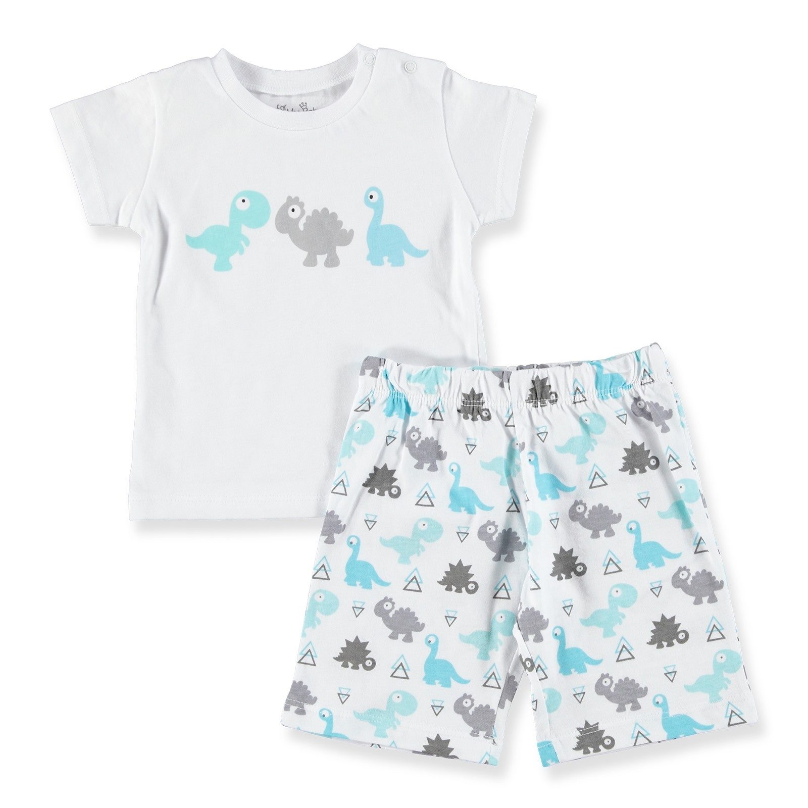 Ebebek For My Baby Boy Triangle Printed Short SleevePyjamas