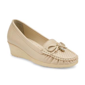 FLO 161115 Z beżowe buty damskie Polaris tanie i dobre opinie Trzciny