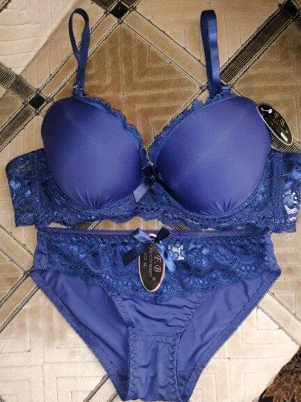 Women Underwear Solid Bra Briefs Sets Sexy Plus Size Lingerie Suit Lace Bra And Panties Female Push Up Bra Set Bra & Brief Sets    - AliExpress