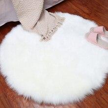 Wool Door Mats Carpet Indoor Mat  Solid Color Doormat Keep Warm Non Slip Bedroom Ornament Home Decoration