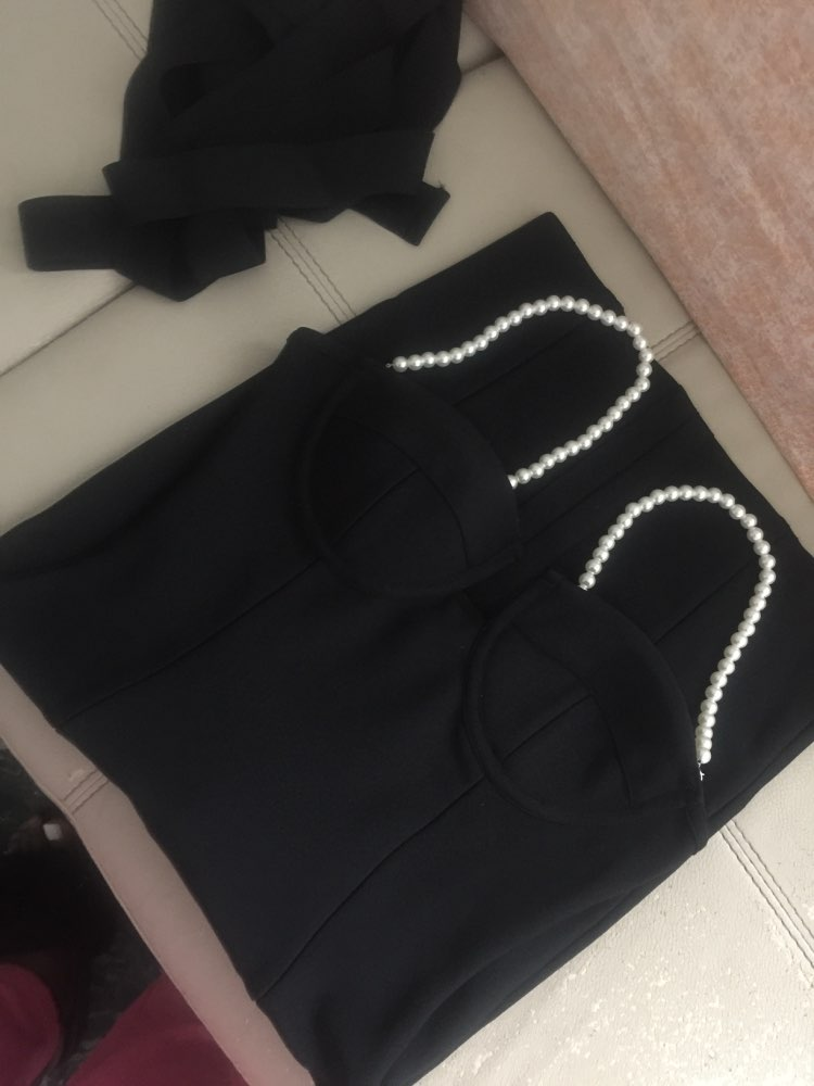Chic Pearl Strap Dress photo review