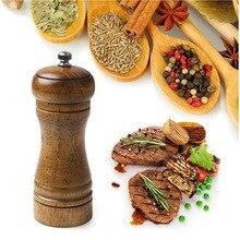 10 Uds. Vintage madera de roble sal pimienta molinillo de especias para salsa licuadora molino DHLSP