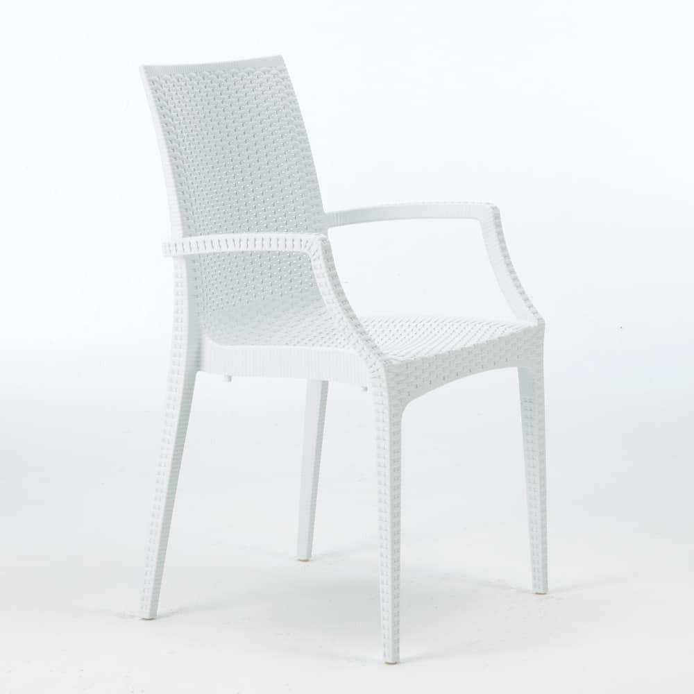 Armchair ROWING, White Polypropylene