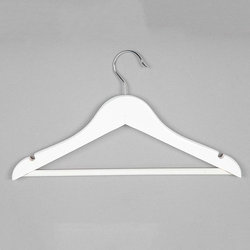 5 pcs in a set white and black wooden hanger for clothes wardrobe racks