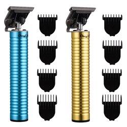USB akumulator fryzjer T Outliner ostrze blisko cięcia szeroki trymer do włosów bezprzewodowy t-szkielet Clipper strzyżenie z grzebieniem limitu