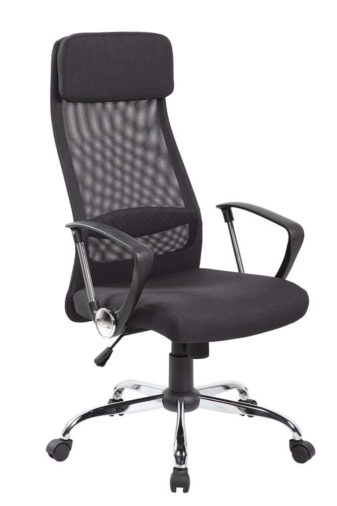 Office Armchair CORINTH, High, Gas, Rocker, Mesh And Black Seat