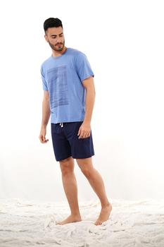 'S SUMMER MAN'S Pajamas Cotton De Babelo, Set From MAN'S Pajamas Set Short Sleeve And Shorts