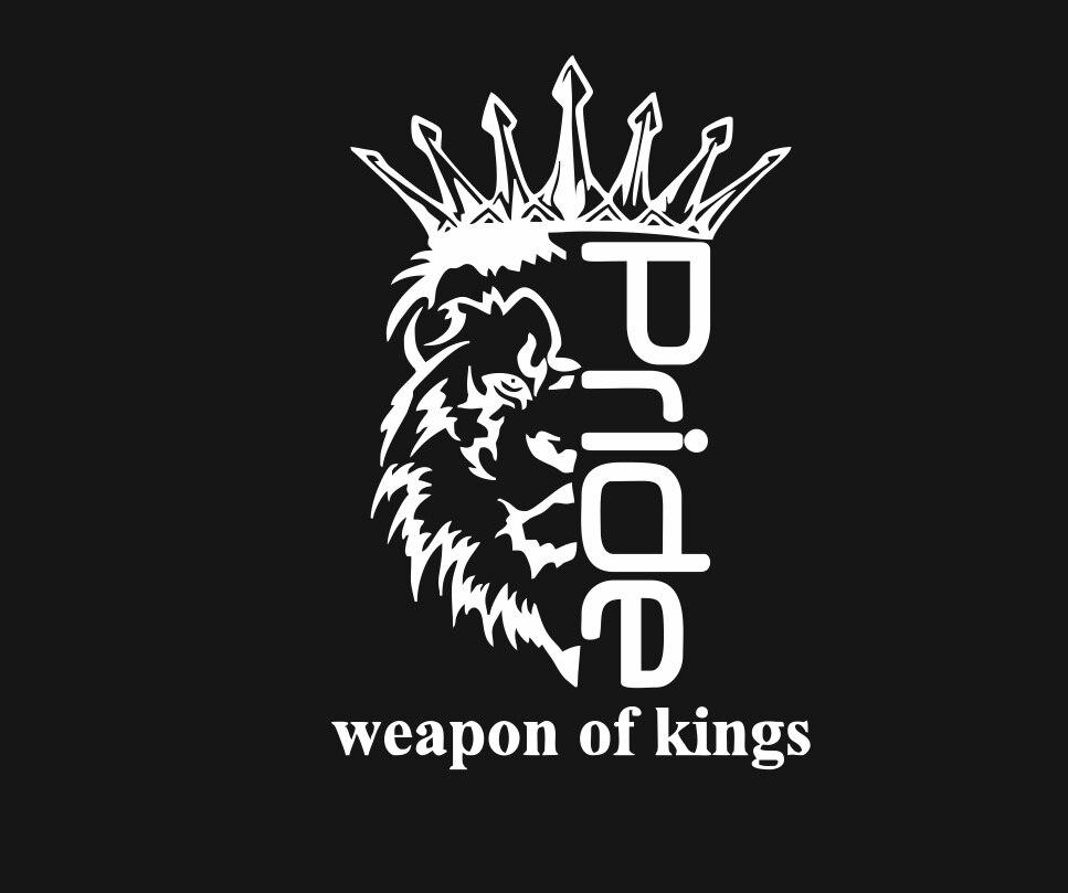 Наклейка, pride Weapon of kings. На заднее стекло автомобиля