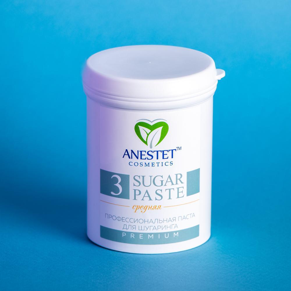 Sugar Paste For Sugaring, Medium 3, 330 гр. ANESTET Hair Removal, Depiladora Facial, Depilacion, Facial Hair Remover, Epilation