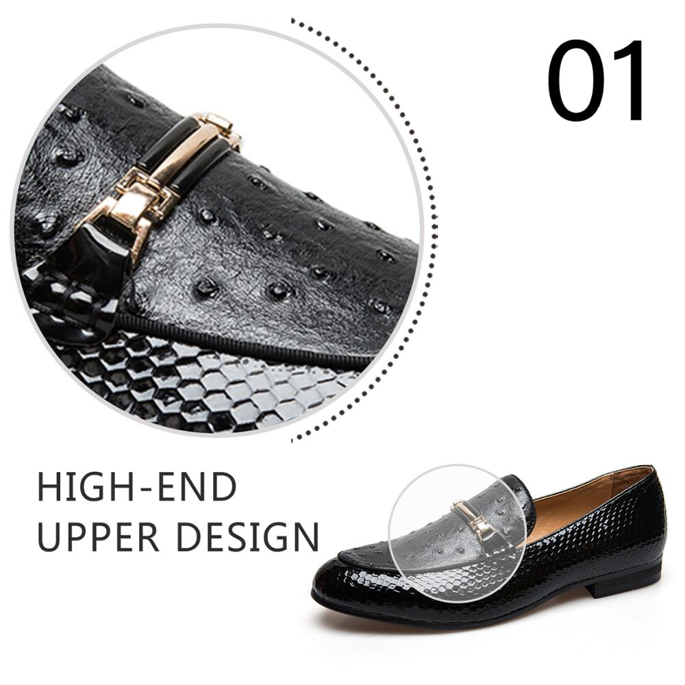 Ayakk.'ten Erkek Rahat Ayakkabılar'de MeiJiaNa erkek ayakkabısı Marka Rahat Deri Siyah erkek ayakkabısı Lüks Marka Loafer'lar'da  Grup 2
