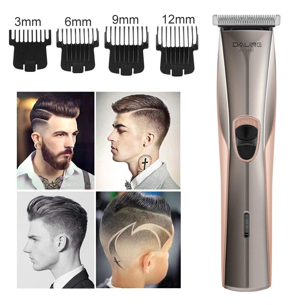 Usb elétrico aparador de cabelo masculino barba
