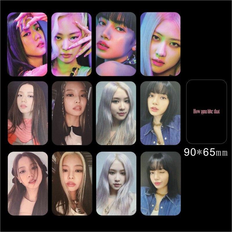 KPOP  4PCS/SET How You Like That Polaroid LOMO Cards JENNIE JISOO LISA ROSE Personal Album Photocards Fans Gifts