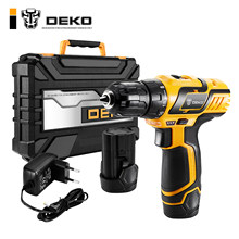 DEKO GCD10.8DU3 10.8-Volt Electric Screwdriver Cordless Drill Mini Wireless Power Driver DC Lithium-Ion Battery 10mm 2-Speed(China)