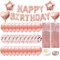 Розовое Золото Фольгированные буквы «С Днем Рождения» воздушные шары красивый цветный вырослый плащ/вечерние украшения для маленьких дево...