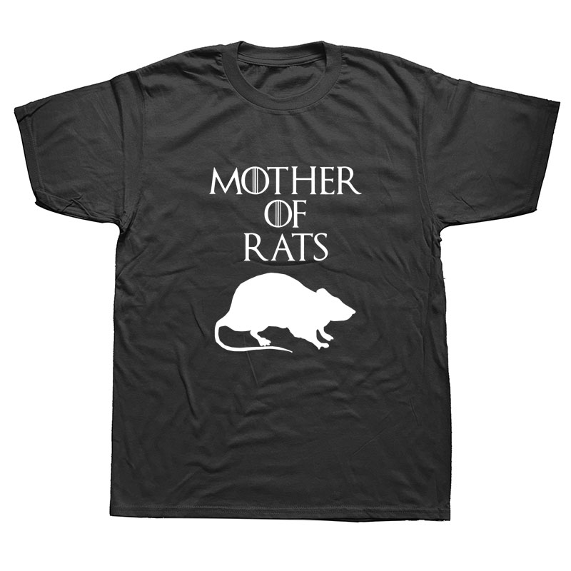 Summer Style Funny Mother of Rats Men T Shirt Streetwear Casual Short Sleeve Print Cotton Hip Hop Casual O-Neck T-shirt Tops Tee