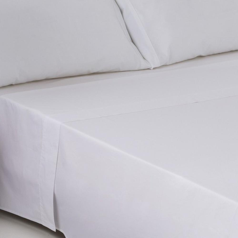 Bed Sheet FITTED 30/27 (144 WIRE) 100% COTTON WHITE/HOTEL: