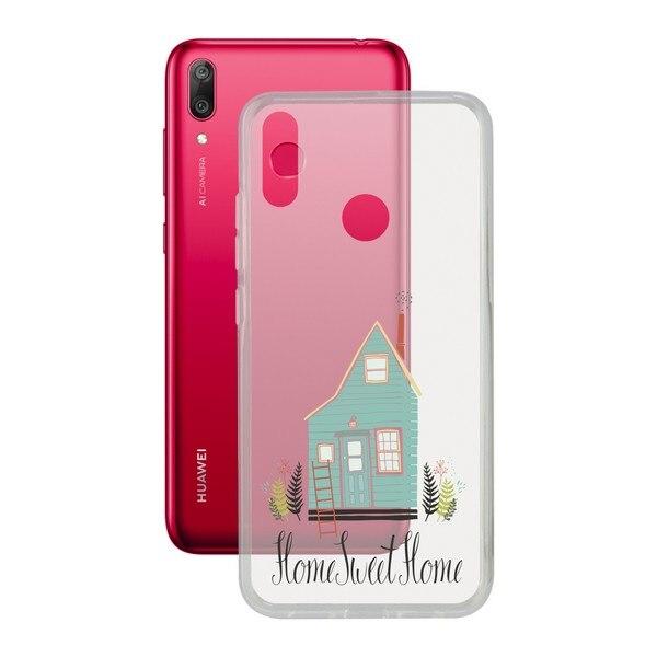Mobil kapak Huawei Y7 2019 İletişim esnek ev TPU title=