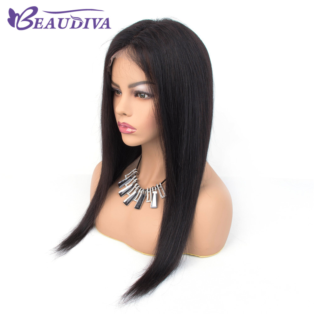 Lace Frontal Human Hair Wigs With Baby Hair Beaudiva Hair Pre Plucked Hairline 100% Human Hair Wigs  For Black Women