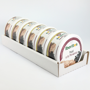 IBERITOS-tray 6x250g Pate a pepper