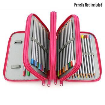 72 Holes Canvas Pencil Case School Stationery Holder Large Capacity Pen Case Pencil Bag Storage Box or Girls Boys Pencilcase недорого