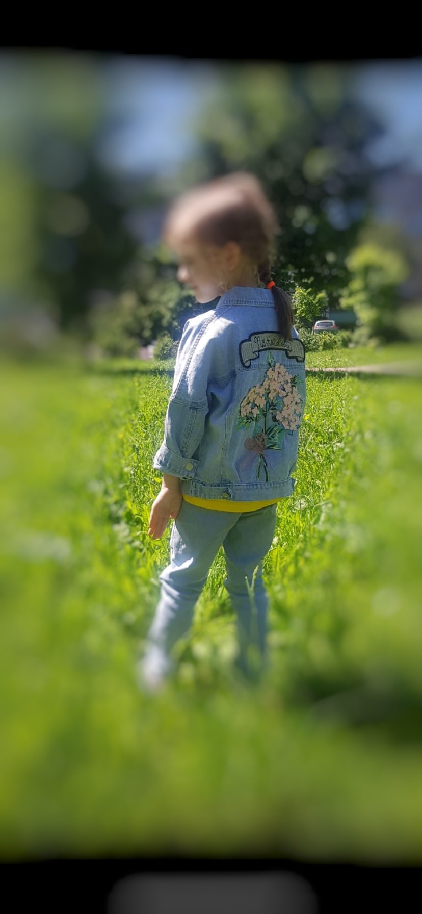 Denim Floral Jacket For Baby Girl photo review