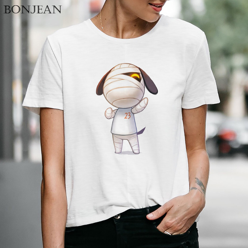 Women's T-shirt Animal Crossing Games short sleeve tshirt Harajuku hip hop Cartoon printed Tee tops kawaii Female Clothes image