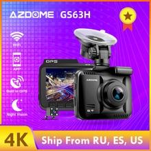 AZDOME видеорегистратор GS63H регистратор 4K Встроенный gps скорость координаты WiFi DVR двойной объектив Автомобильная камера ночного видения камера заднего вида 24-часовой парковочный монитор