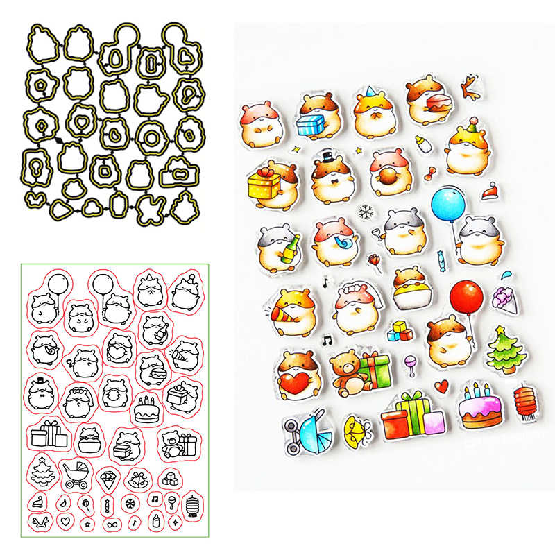 Hamster Viering Clear Stamps Coördinerende Sterft Voor Diy Scrapbooking Craft Card Transparante Stempels Siliconen Afdichting Nieuwe 2020