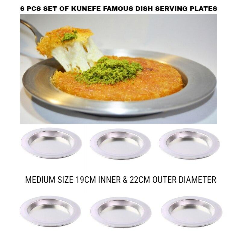 Nouvelle collection Cuisson et service 6 pièces | Plat de Kunefe Original, Casserole à Dessert, assiettes de service, présentation facile et élégante