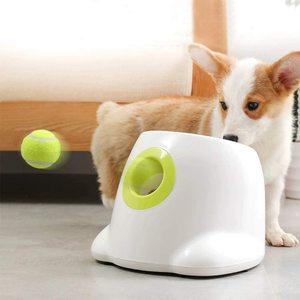 Lançador de bola automático máquina de lançador de bola de cão hyper buscar bola de tênis. Brinquedo do animal de estimação