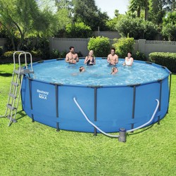 Round pool With Sewage Metallic Structure Ø457x122 cm.