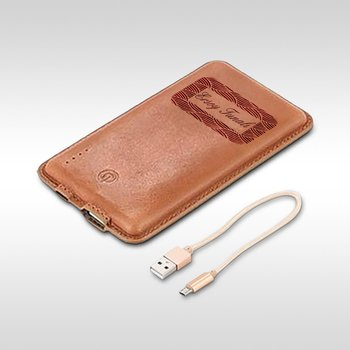 Personalized Genuine Leather 8000 mAh Powerbank - 1