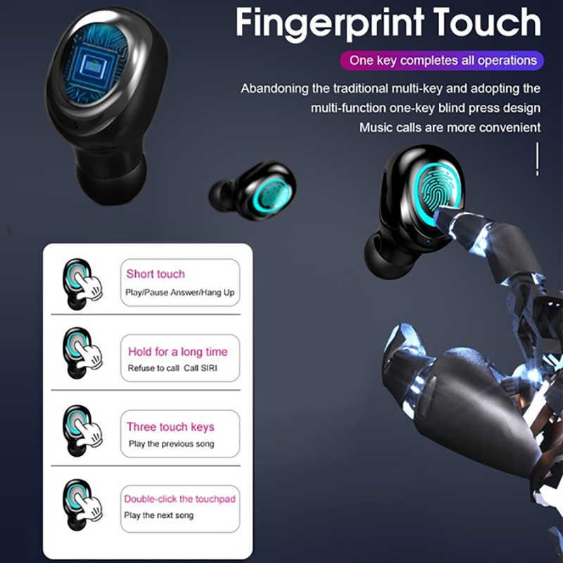 מגע שליטת Bluetooth 5.0 אוזניות אלחוטי אוזניות 9D סטריאו אוזניות 3500mAh טעינת מקרה LED תצוגת Fit כל Smartphone