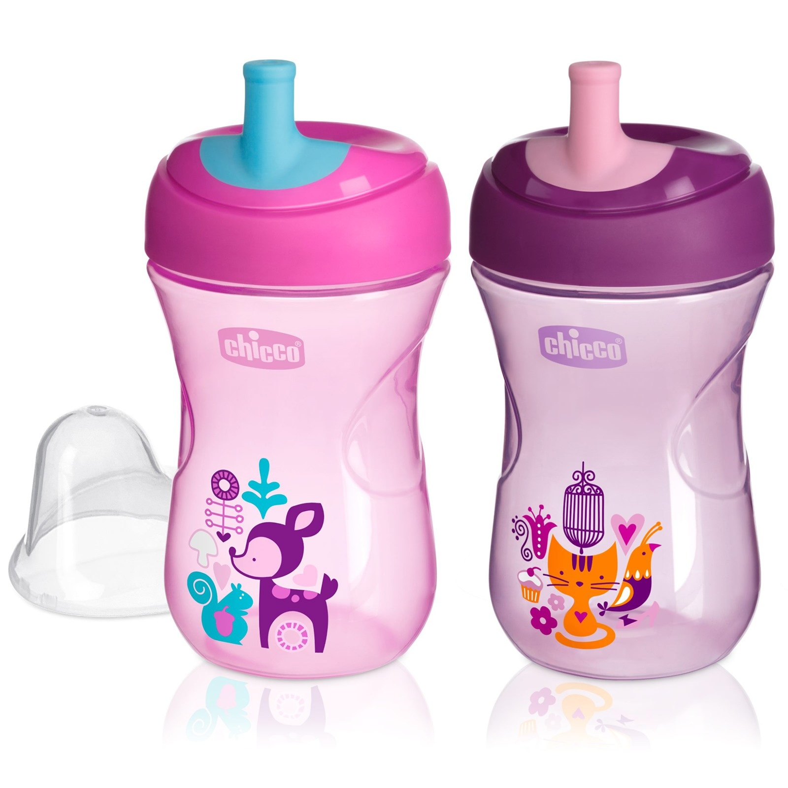 Ebebek Chicco Assorted Training Cup With Straw 266 Ml 12 M+ Girl