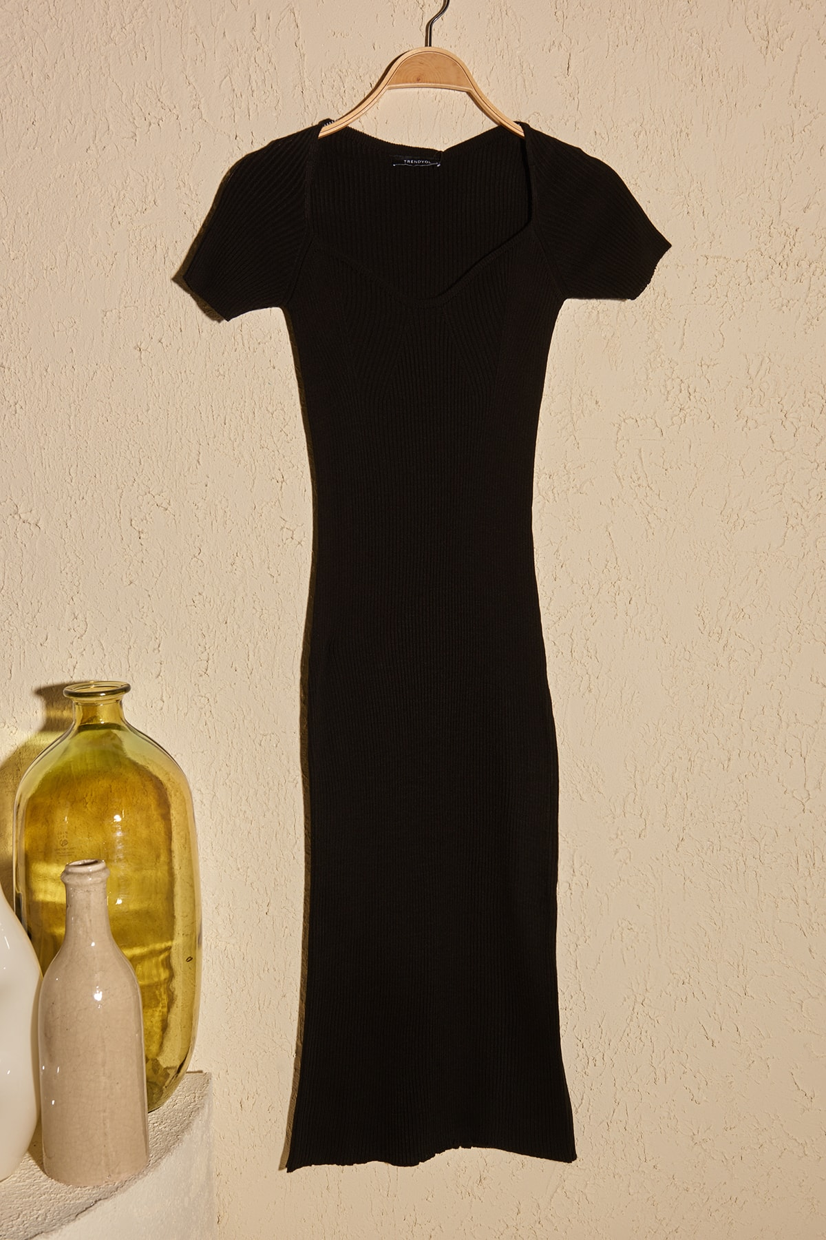 Trendyol Heart Collar Knitwear Dress TWOSS20EL3114