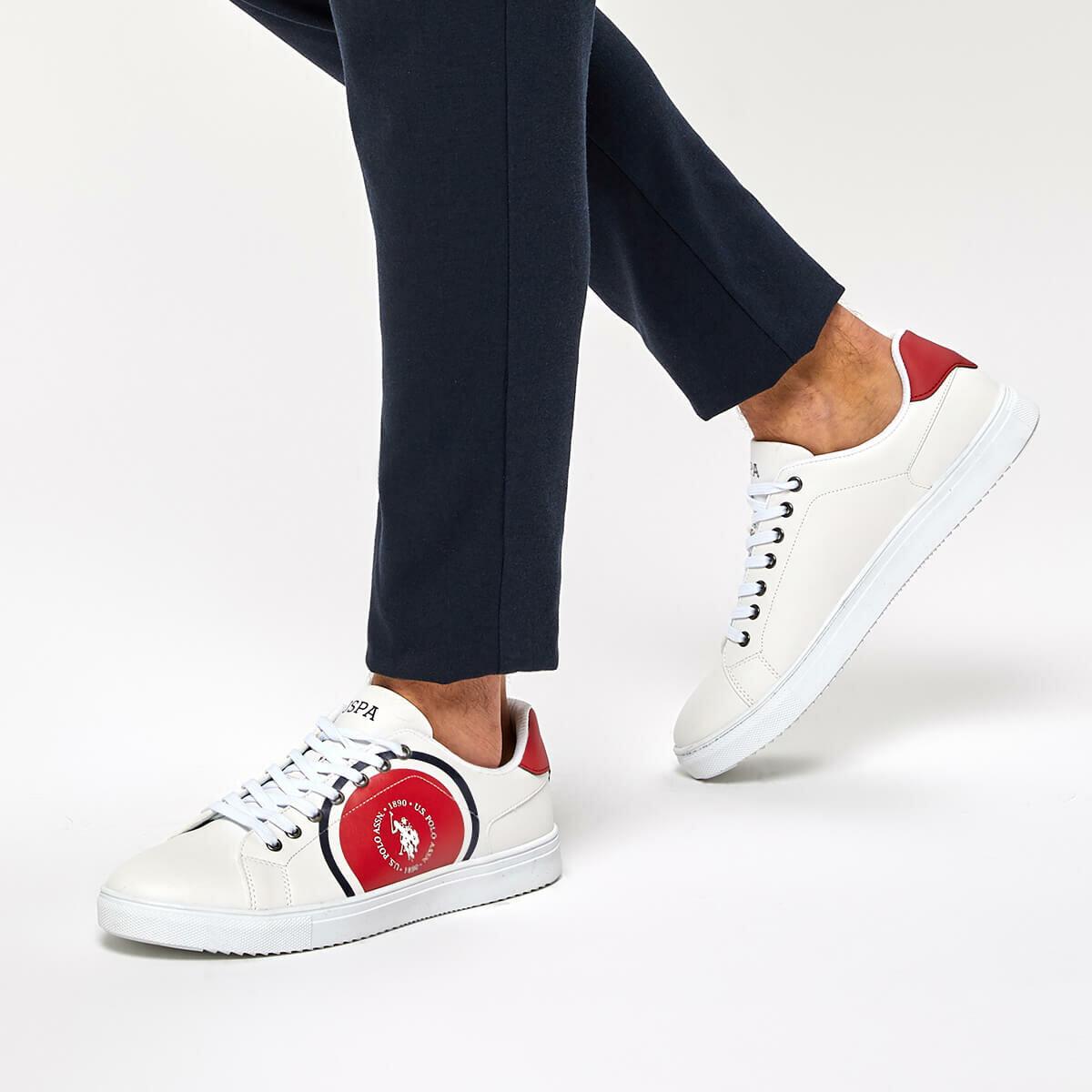 FLO NICOLAS White Men 'S Sneaker Shoes U.S. POLO ASSN.