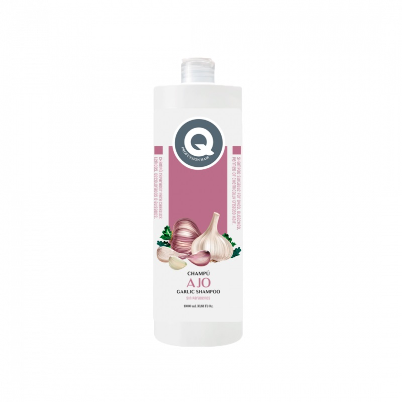 Q PROFESSIONAL HAIR garlic shampoo 1000 ml, stimulates the growth HAIR other.