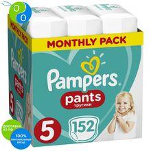 Подгузники-трусики Pampers Pants 12-17 кг, размер 5, 152шт
