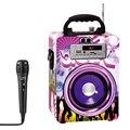 Portátil bluetooth alto-falante portátil karaoke alto-falante com microfone rádio fm tf cartão 3 cor barato