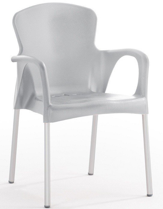 Armchair SEINE Stackable Polypropylene Gray *
