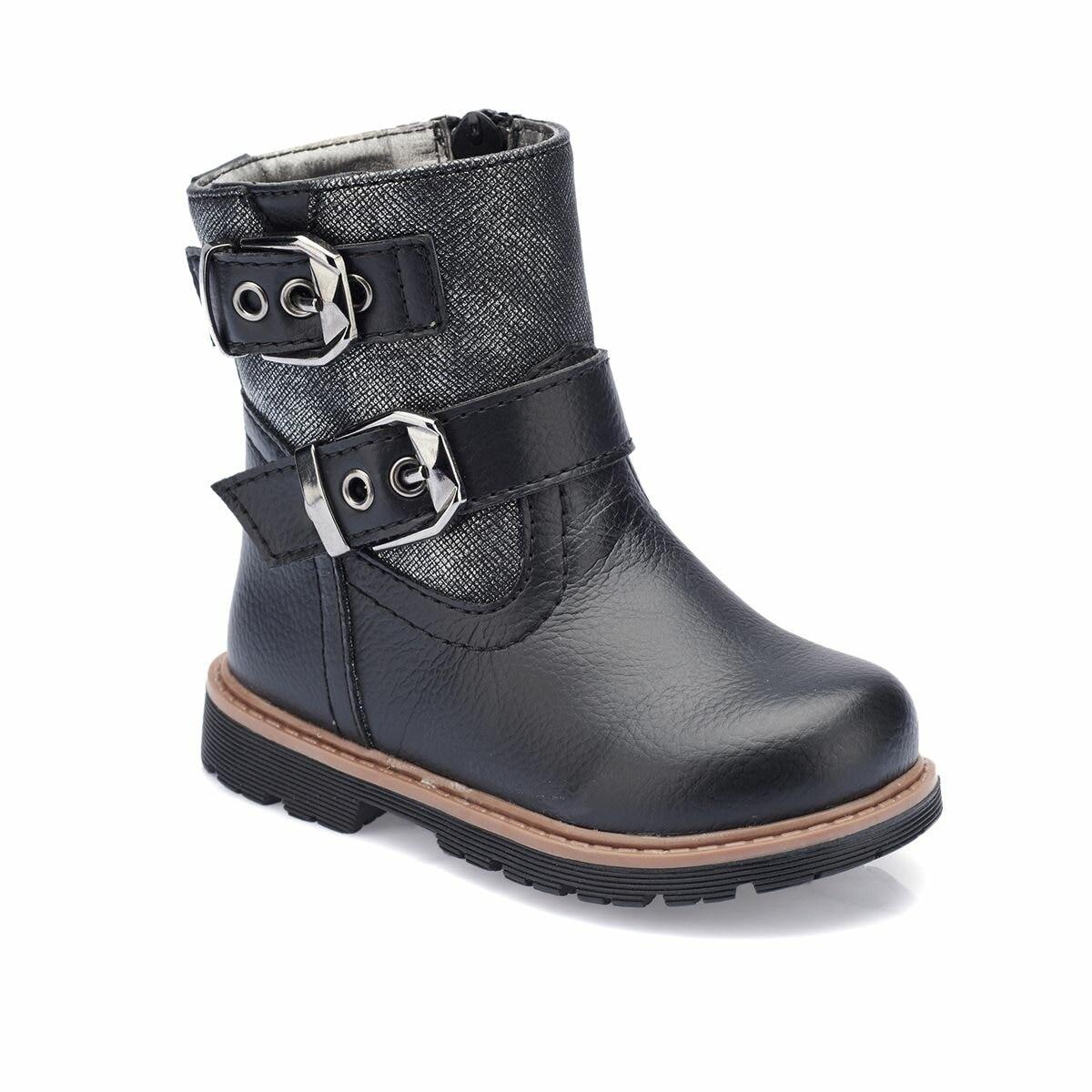 FLO 82. 510522.B Black Female Child Boots Polaris