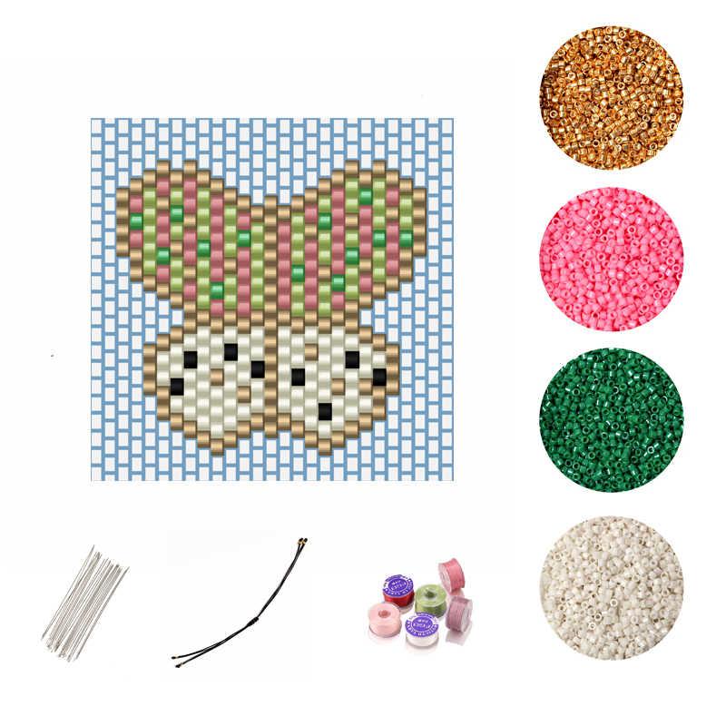 FAIRYWOO פרפר צמיד DIY אביזרי תכשיטי ביצוע ערכת מיוקי זכוכית חרוזים סיטונאי מתכוונן חיות קסמי צמיד