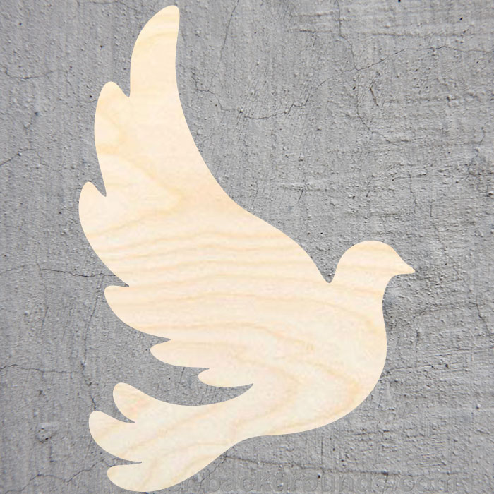 Dove  Silhouette Laser Cut Out Wood Shape Craft Supply Unfinished Cut Art Projects Craft Decoration Gift Decoupage Ornamente