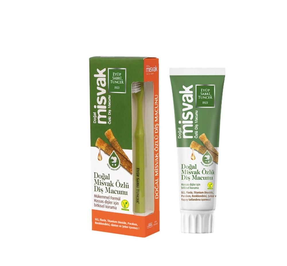 Natural Miswak Cored Toothpaste Herbal Eucalyptus Cored Toothpaste Good Quality Toothpaste Original Toothbrush With Gift()