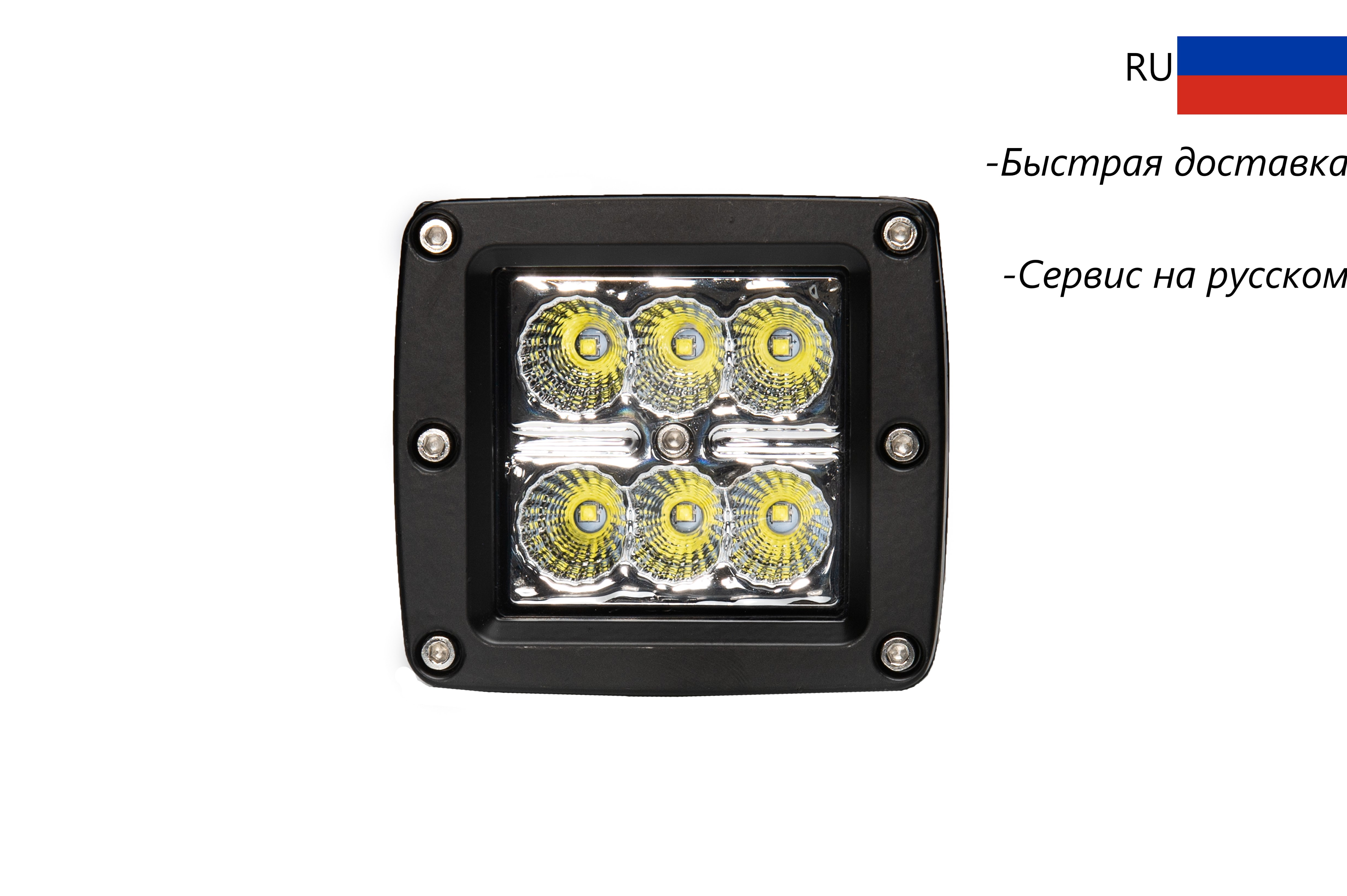 Car Led Light Bar 18W Work Light Lamp Cree Chip LED Motorcycle Tractor Boat Off Road Field 4x4 Car Accessories Truck SUV 12V 24V-in Light Bar/Work Light from Automobiles & Motorcycles