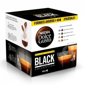 BLACK PACK 48 capsules, assortment of espresso varieties, Dolce Gusto